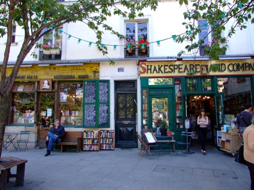 One of my favourite bookshops, Shakespeare and Company in Paris, taken by me on honeymoon.