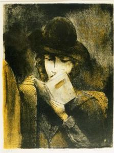 Girl Reading by Isadore Weiner (1938). Held by Illinois State Museums