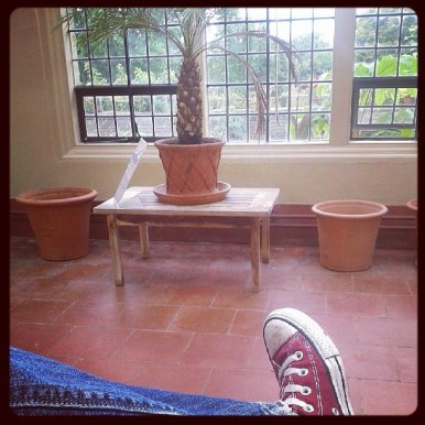 Me chilling in the conservatory.