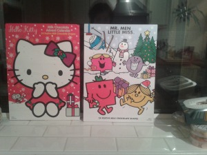 (I'm not greedy- the Hello Kitty one is mine, Mr Men is D's)