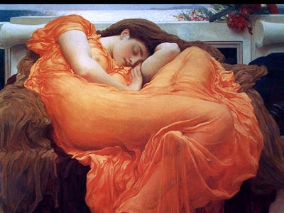 famous-watercolor-painting-beautiful-woman-was-sleeping